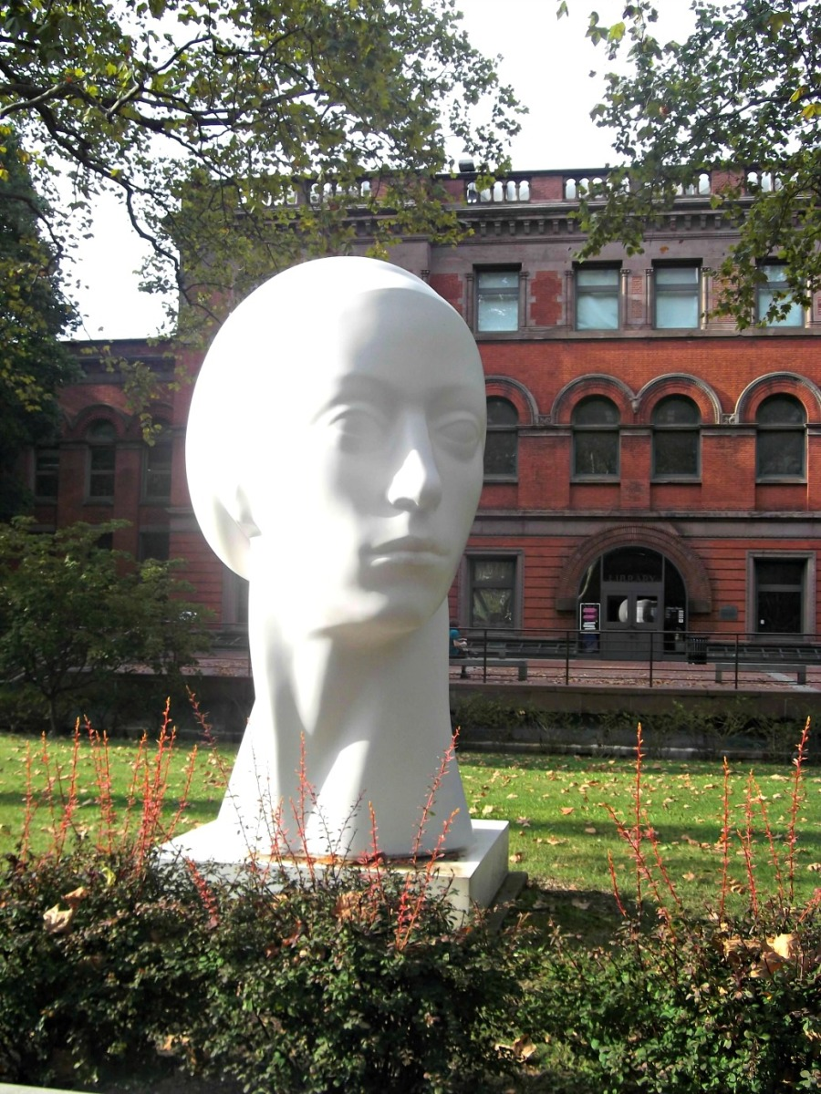 NYC. Brooklyn. Clinton Hill. The Pratt Institute. Sculpture Garden.