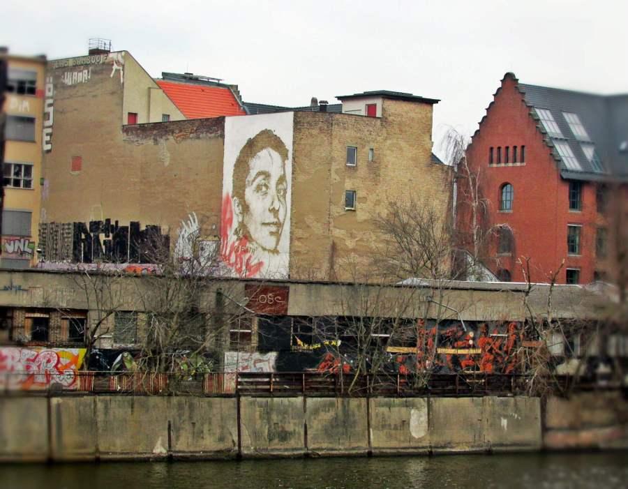 Street Art by Vhils in Friedrichshain