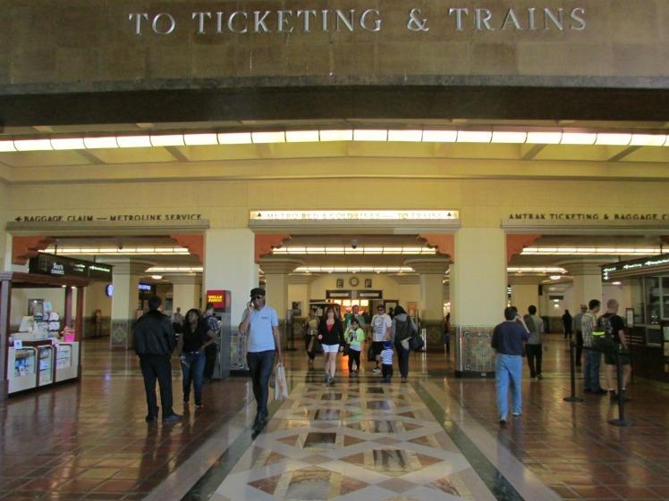 Union Station ticketing trains