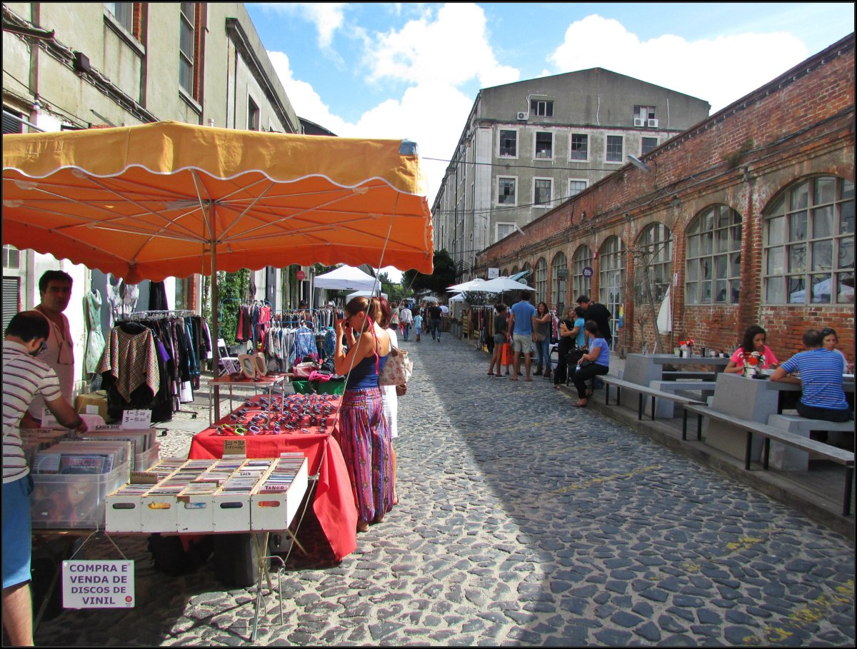 Lisbon. Sundays at the LX Factory: LX Market.