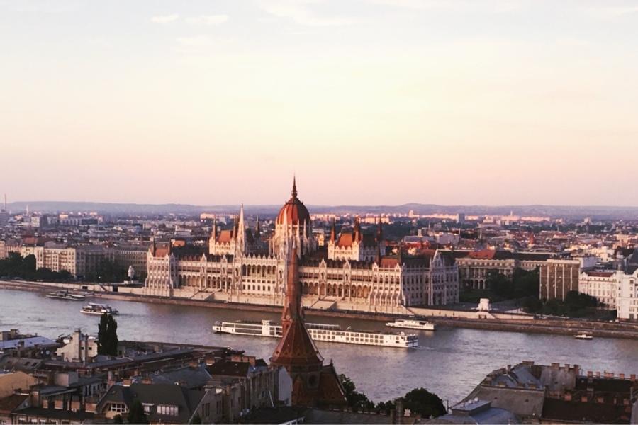 budapest-parliament-sunset